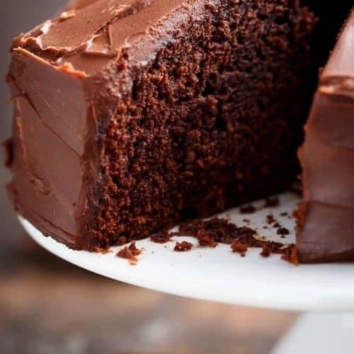 Best Fudgy Chocolate Cake Cafe Delites