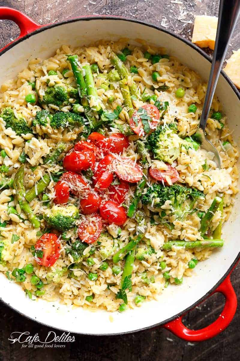 One Pot Orzo Primavera