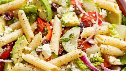 Lemon Herb Mediterranean Pasta Salad Cafe Delites