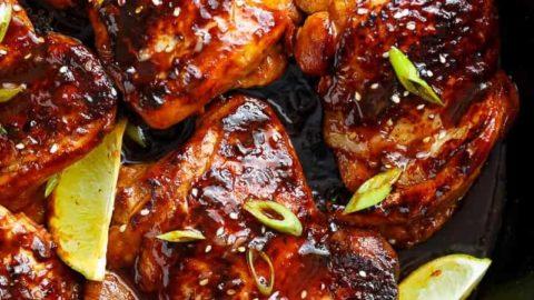 Honey Garlic Sriracha Chicken