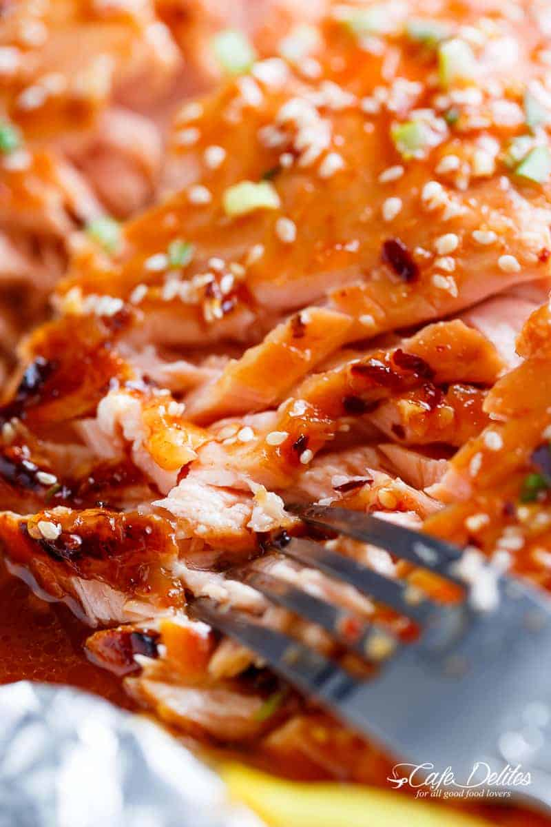 Easy honey sesame salmon in foil cafe delites remember to subscribe to cafe delites newsletter for free and receive fresh recipe notifications delivered into your inbox ccuart Choice Image