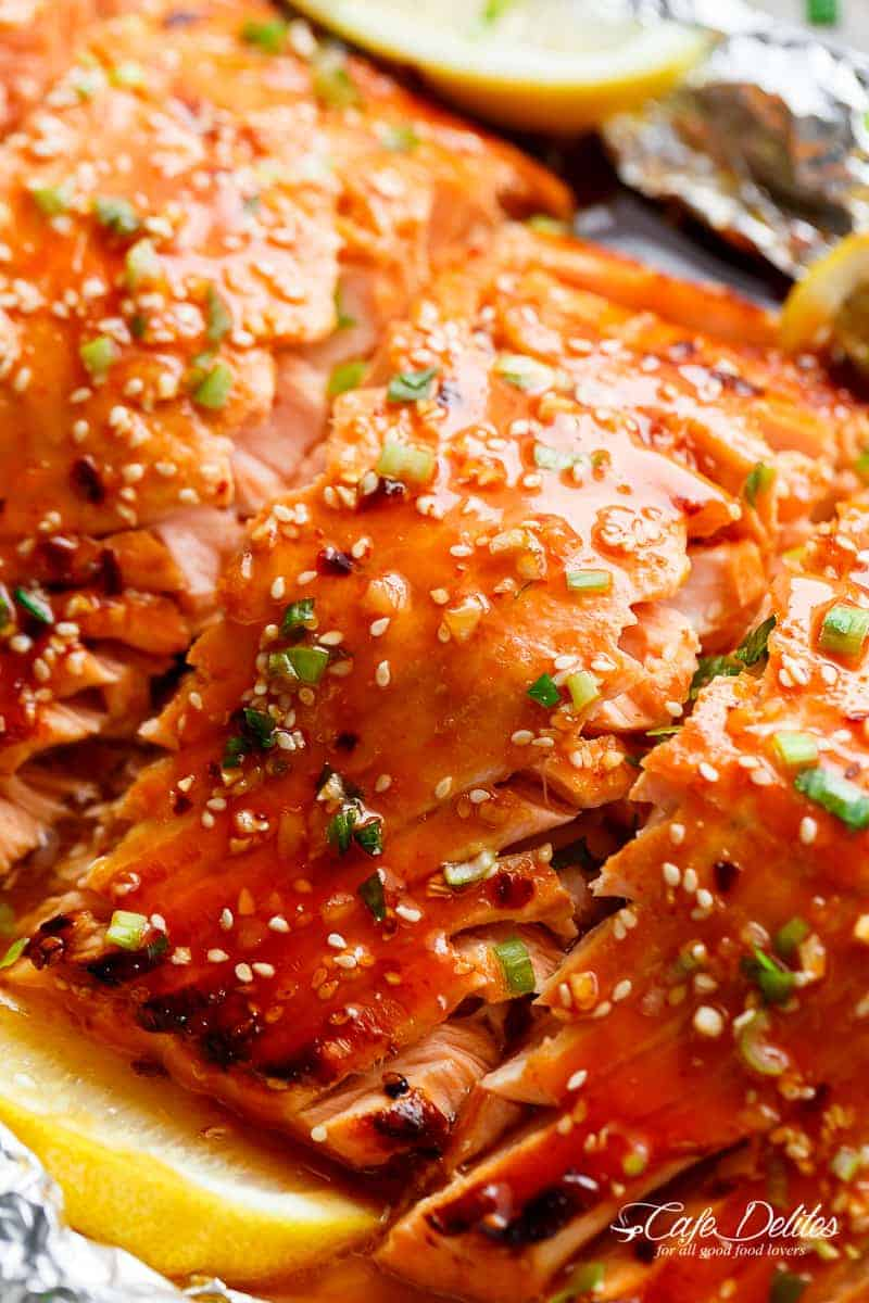 Easy honey sesame salmon in foil cafe delites first youre going to start by making the best garlic butter honey sesame fusion youve ever tasted in your life big call i know but its true ccuart Gallery