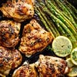 One Pan Lemon Thyme Chicken Asparagus