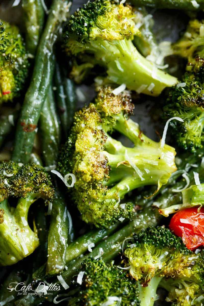 Sheet Pan Garlic Parmesan Roasted Broccoli Amp Green Beans