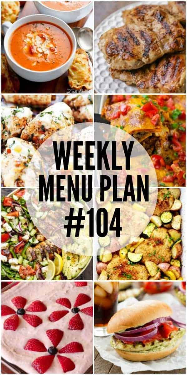 Weekly Menu Plan #104