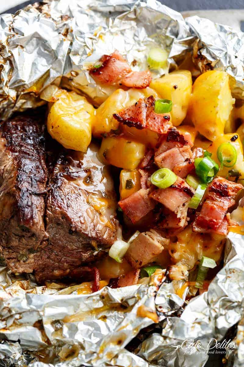 If You Try These Steak & Cheesy Bacon Potato Hash Foil Packs, Please Let Me  Know What You Think!