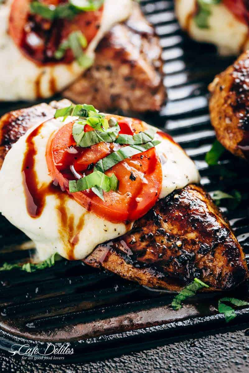 Grilled Chicken Caprese With Buffalo Mozzarella Thedirtygyro