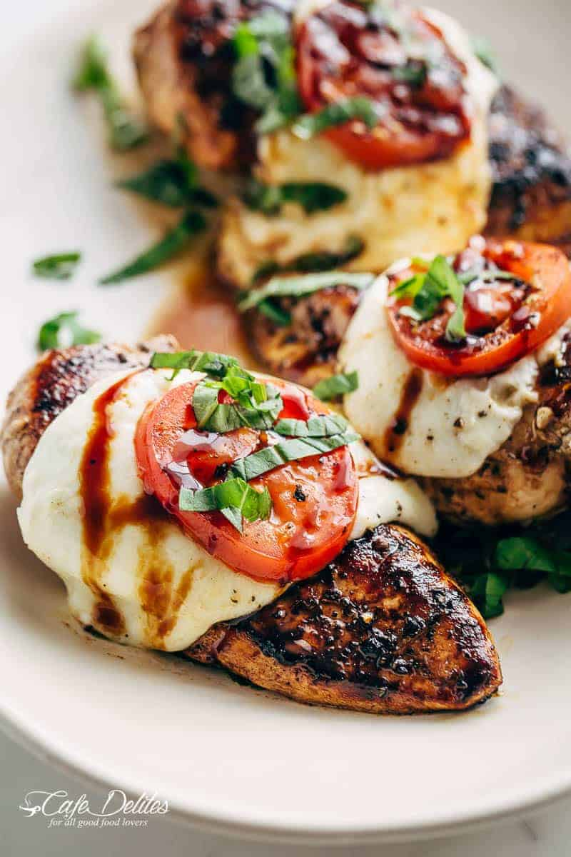 Grilled Chicken Caprese With Buffalo Mozzarella Cafe Delites