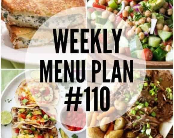 Weekly Menu Plan #110