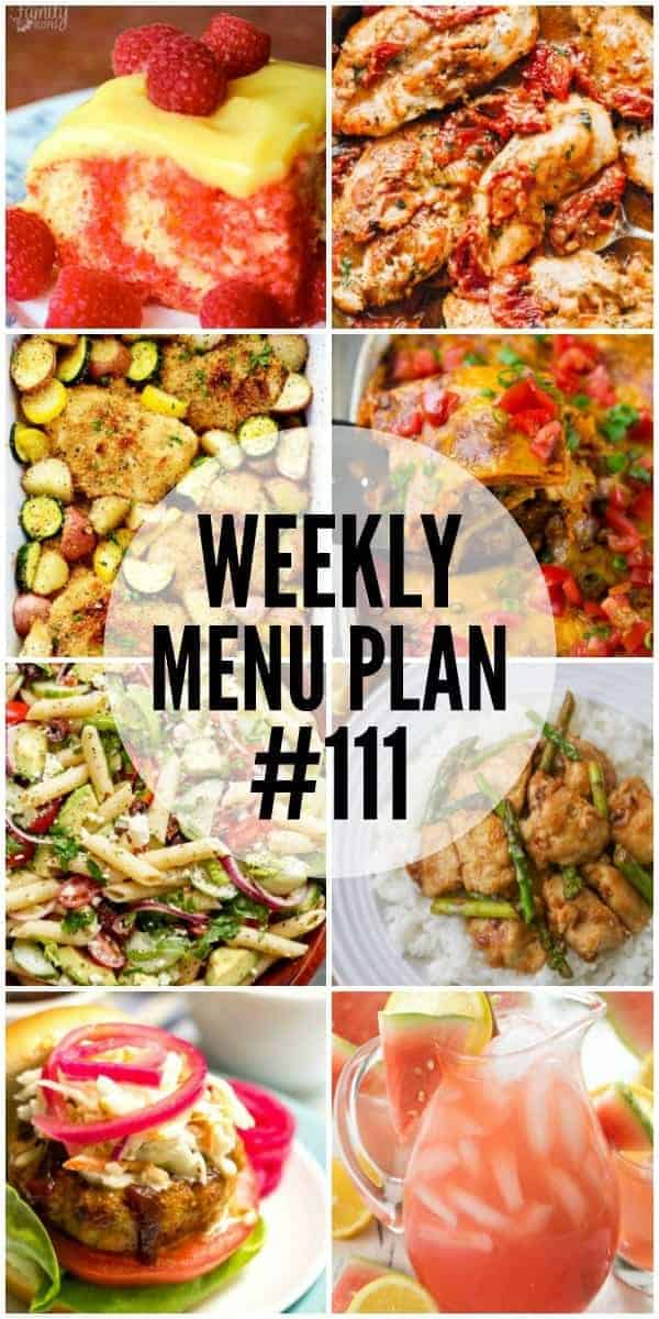 Weekly Menu Plan #111