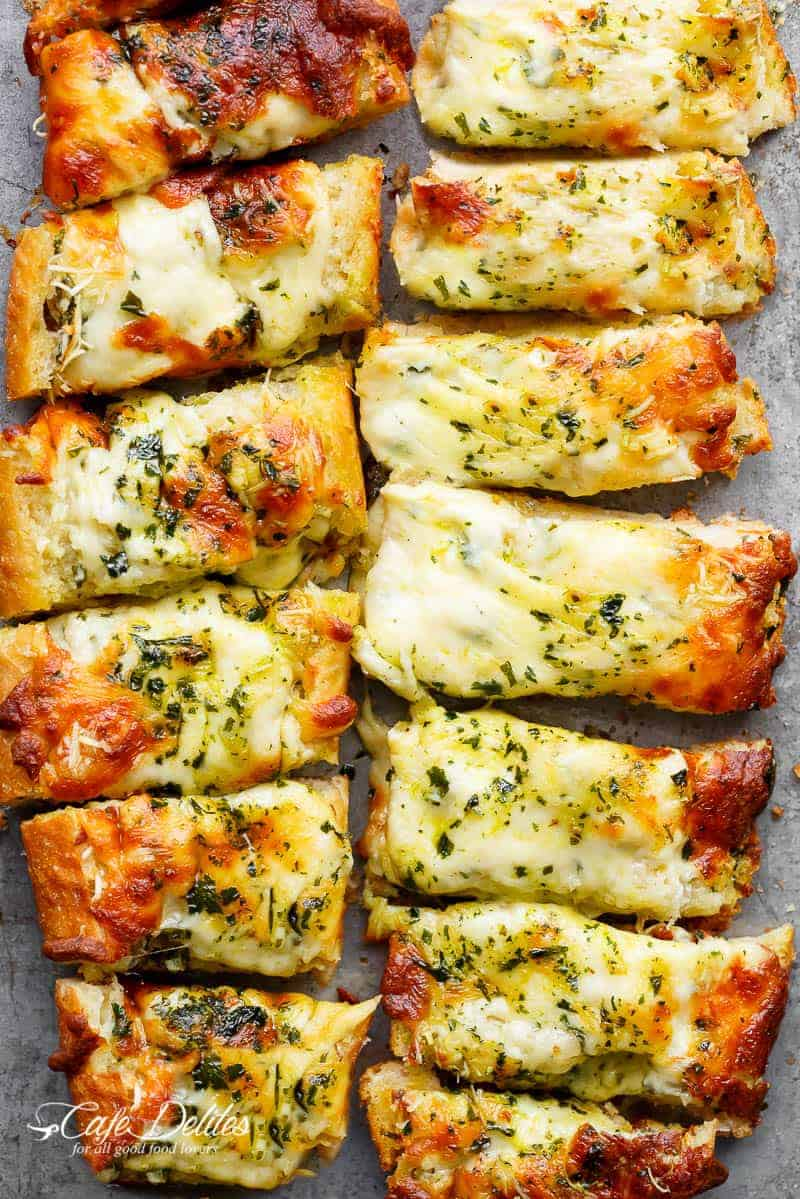 Easy Cheesy Garlic Bread Cafe Delites