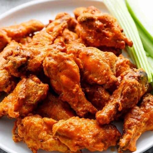 Crispy Buffalo Chicken Wings Baked Cafe Delites