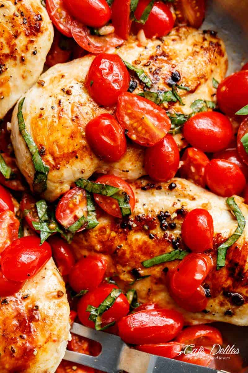 Tomato-Garlic Basil Chicken