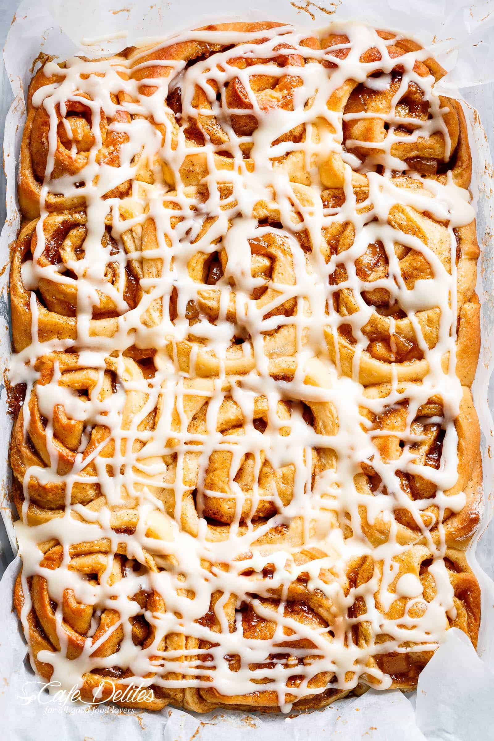 How to make cinnamon rolls icing without cream cheese