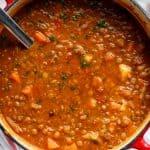 Filling Lentil Soup | cafedelites.com
