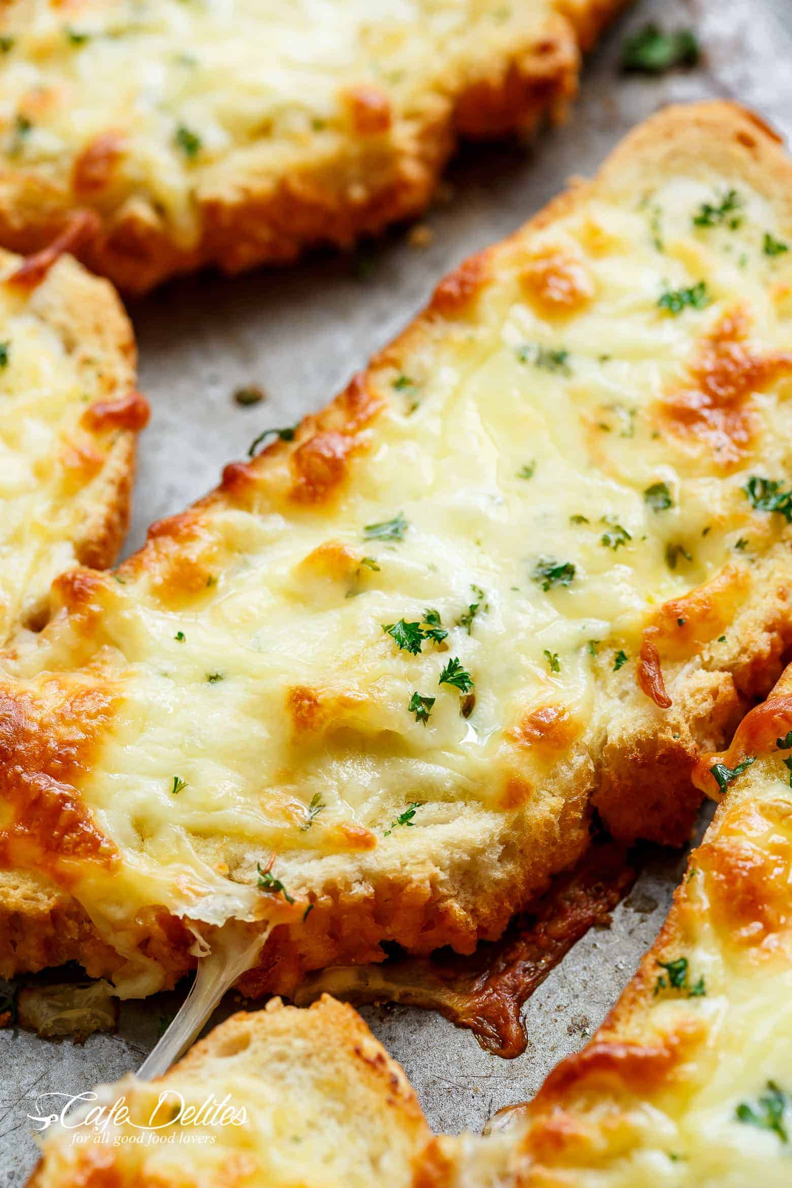 Individual Garlic Cheese Breads (Single Serve RECIPE ...