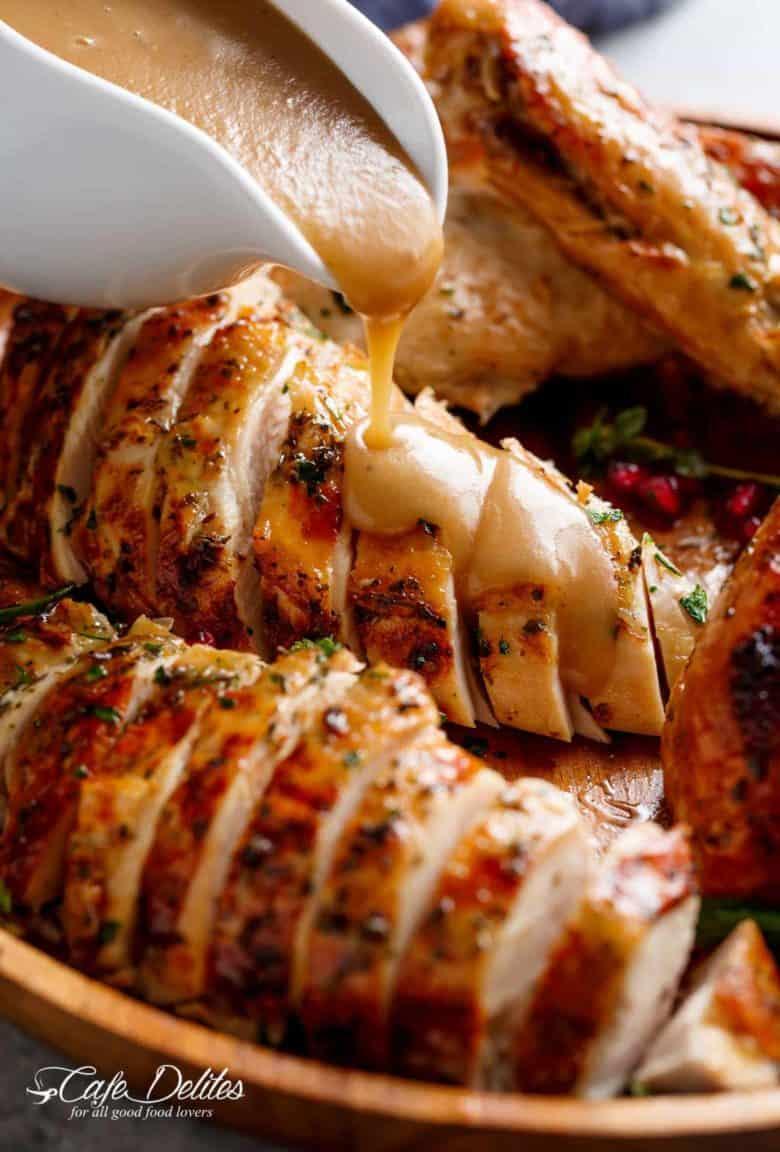 Crispy Skin Slow Cooker Turkey (& Homemade Gravy)