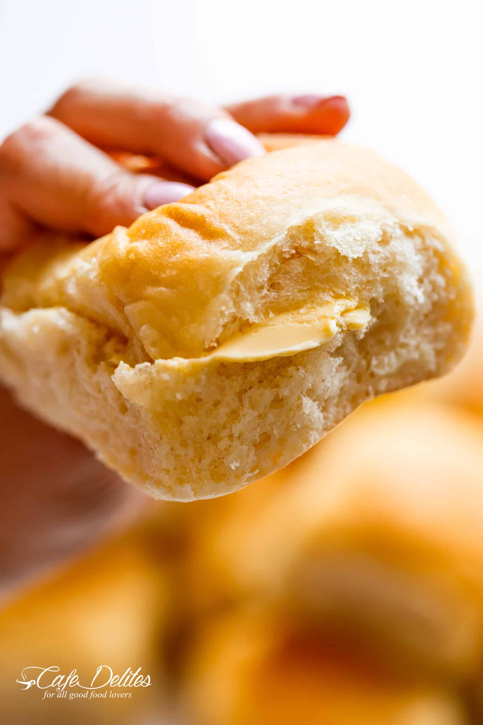 Easy Soft Dinner Rolls No Mixer Egg Free Cafe Delites