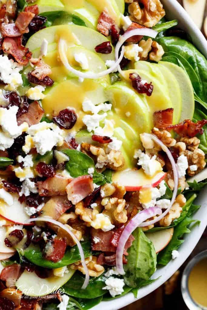 Honey Dijon Apple Bacon Cranberry Salad Cafe Delites