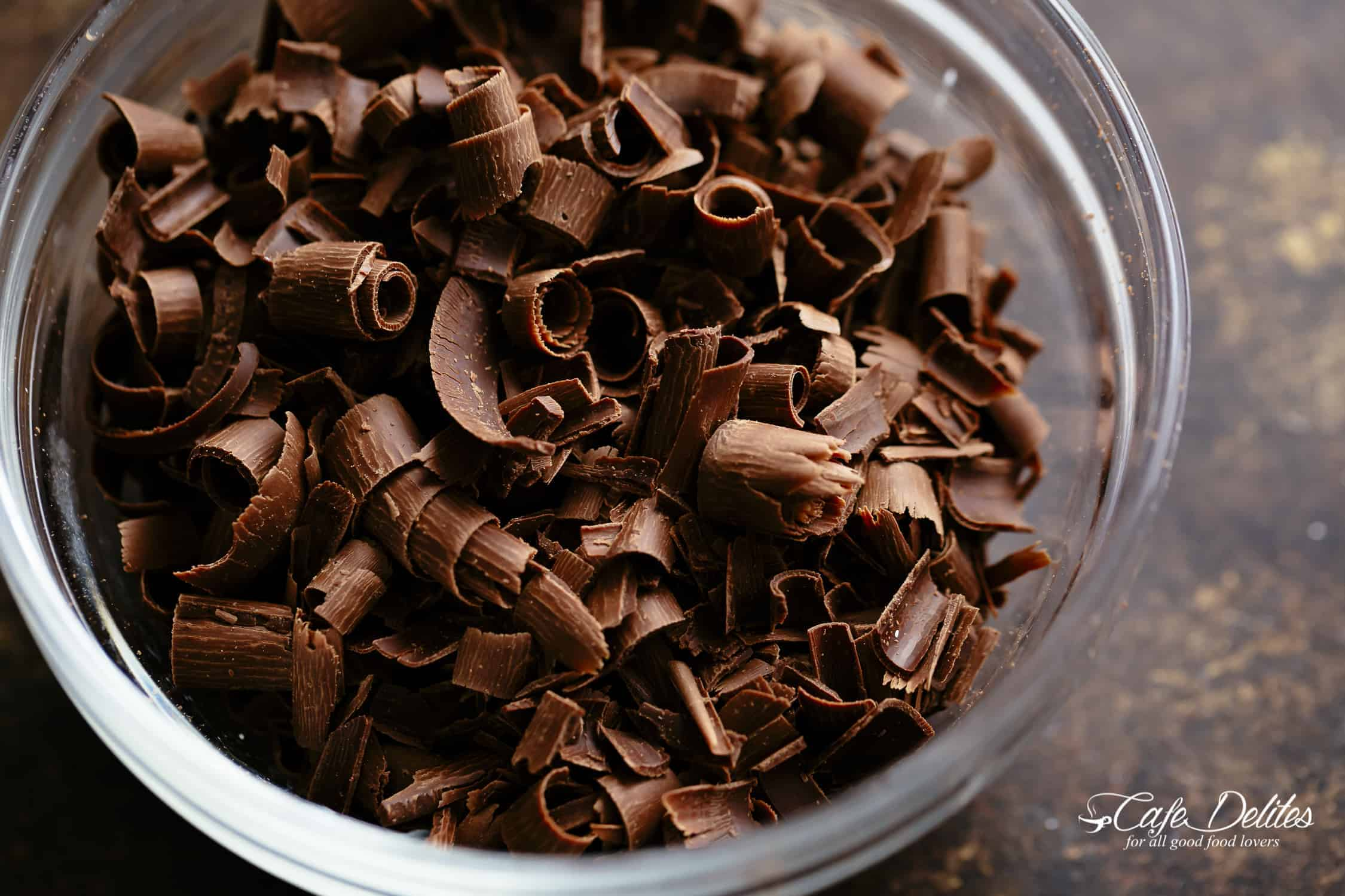 Chocolate curls | cafedelites.com