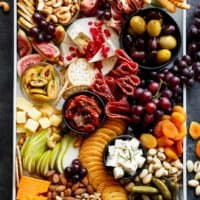 A Loaded Thanksgiving Cheeseboard to kick off your day/night with an easy and quick, throw together cheeseboard that requires zero skill and no prep work! | Cafe Delites