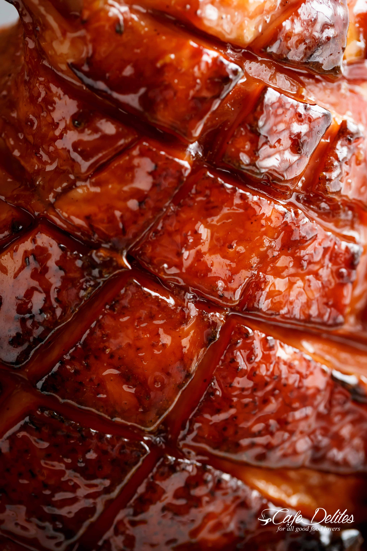 Brown Sugar Mustard Glazed Ham | cafedelites.com
