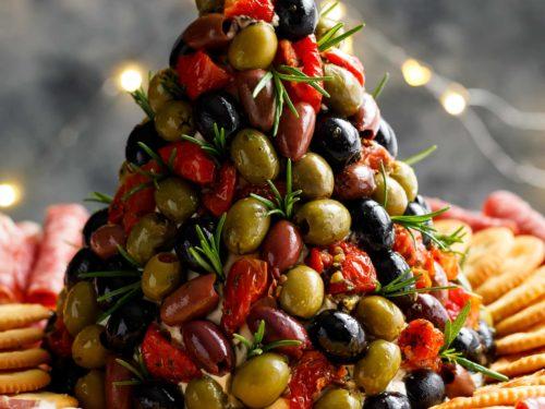Antipasto Cheese Ball Christmas Tree Cafe Delites