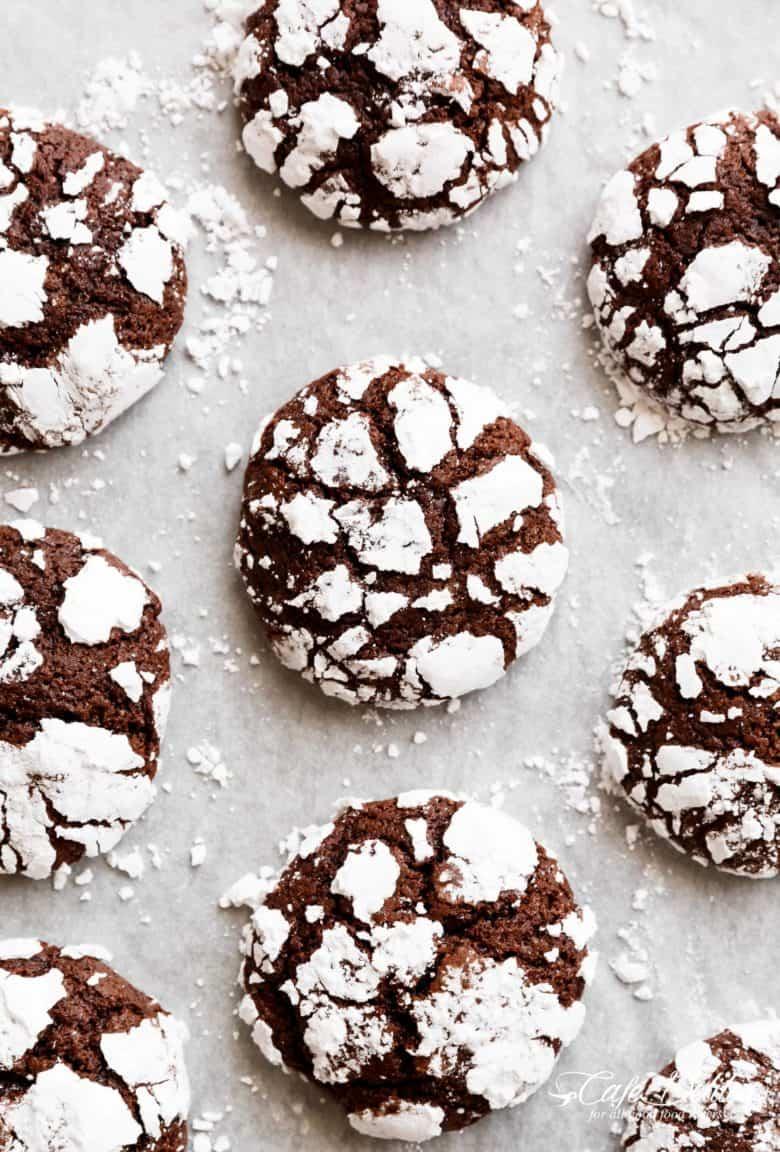 Best Fudgy Chocolate Crinkle Cookies