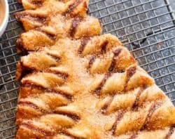 Nutella Churro Christmas Tree Puff Pastry | cafedelites.com