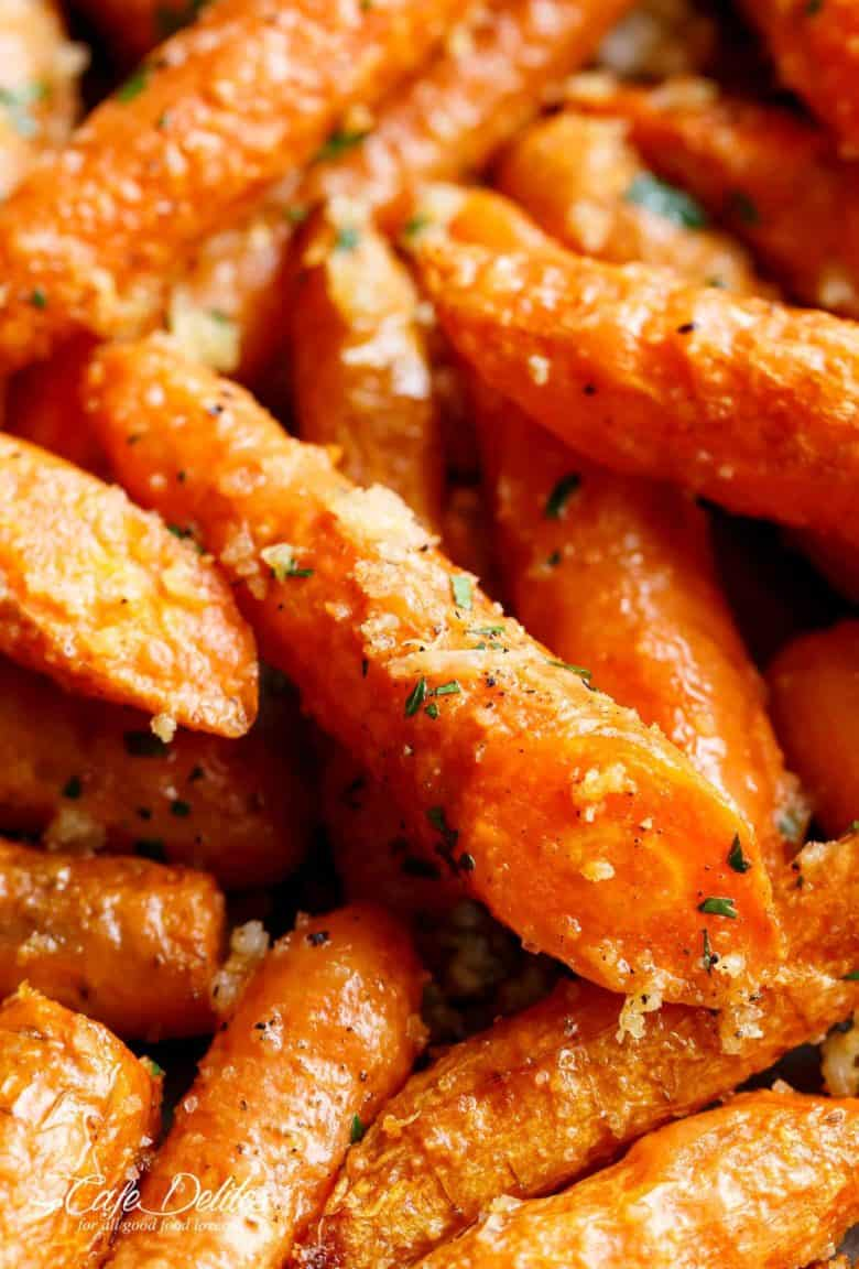 Garlic Parmesan Roasted Carrots Recipe