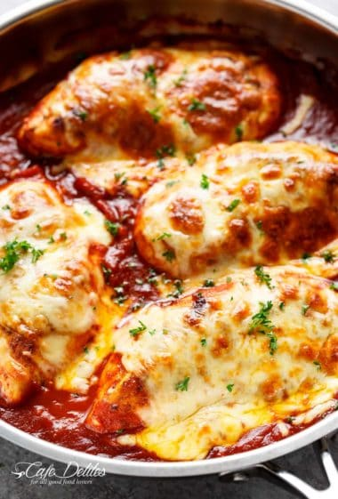Easy-Mozzarella-Chicken | cafedelites.com