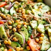 Avocado Chickpea Tuna Salad | cafedelites.com