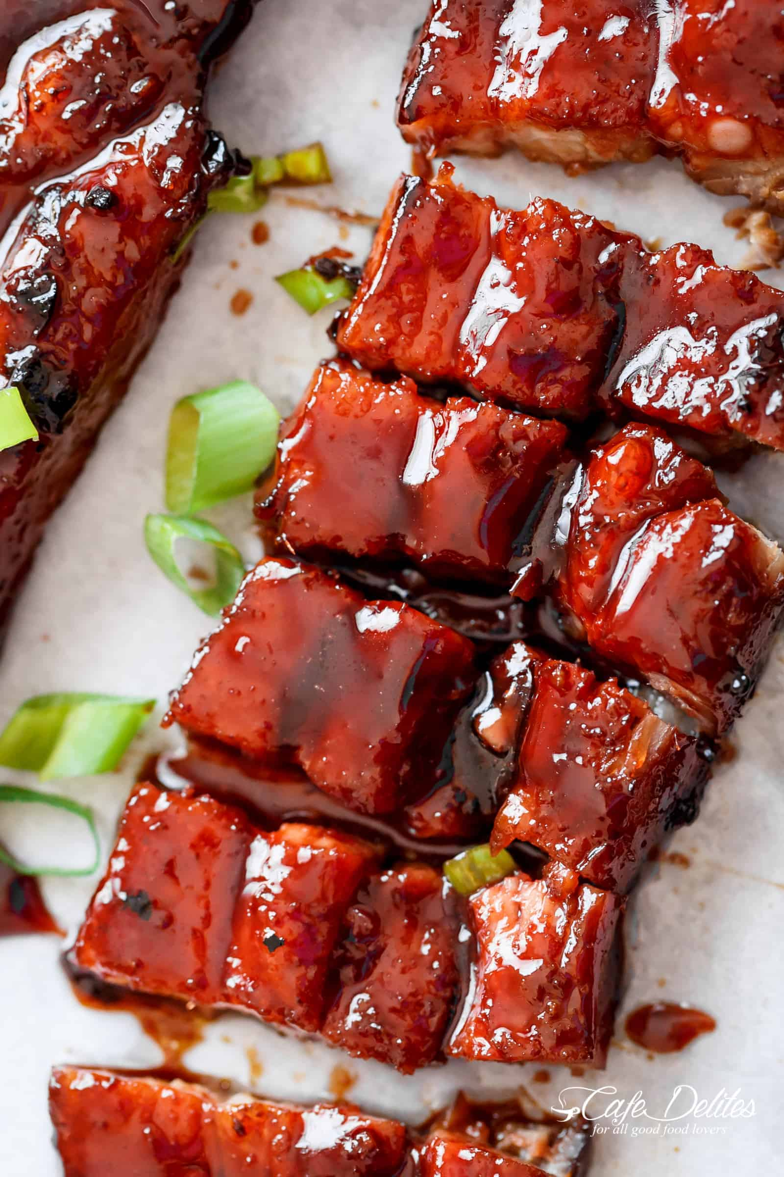 Sticky Chinese Barbecue Pork Belly Char Siu Cafe Delites