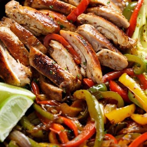 Best Chicken Fajitas | cafedelites.com