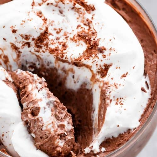 3-Ingredient Double Chocolate Mousse (Low Carb and Dairy Free) | http://cafedelites.com