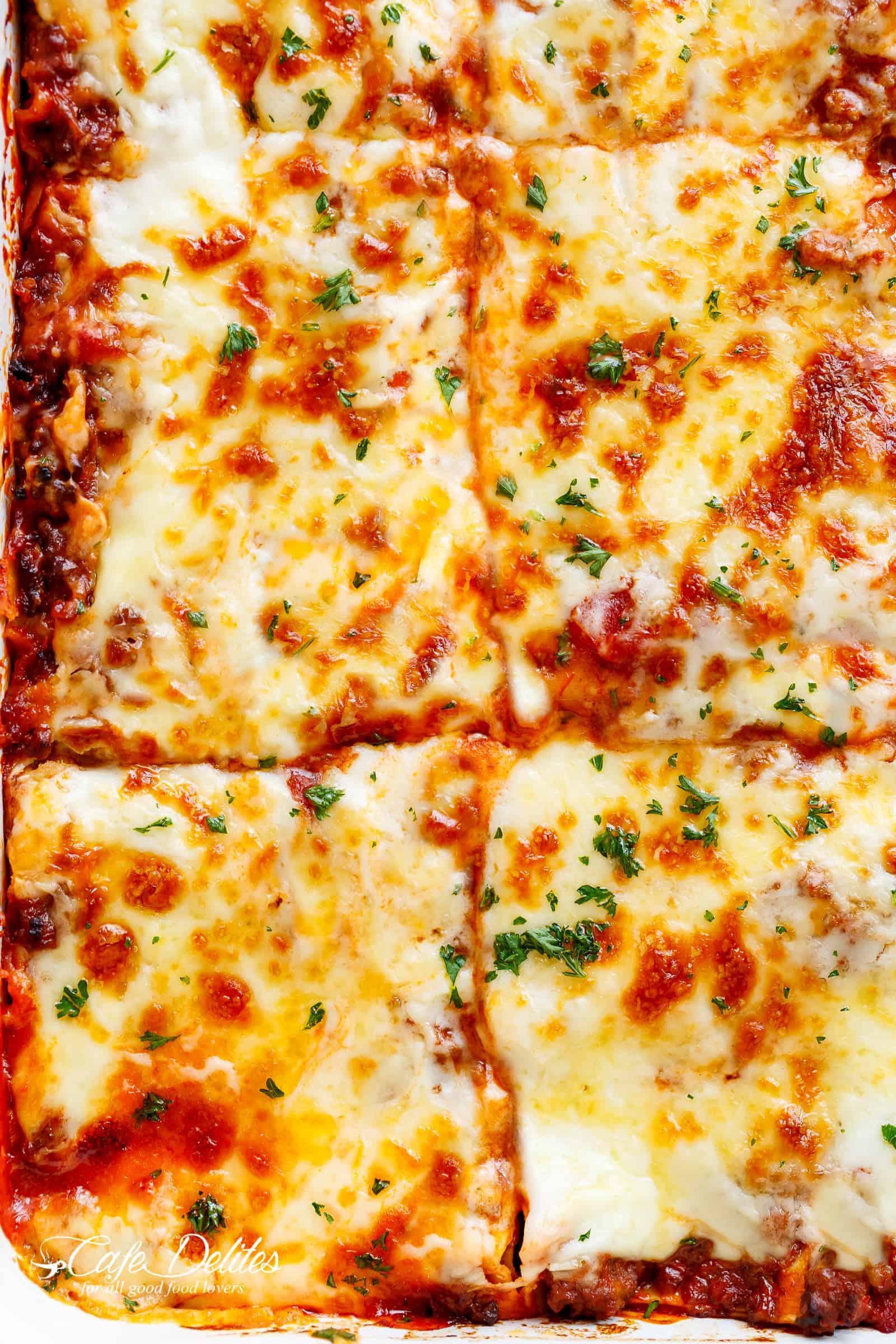 Lasagna close up | cafedelites.com