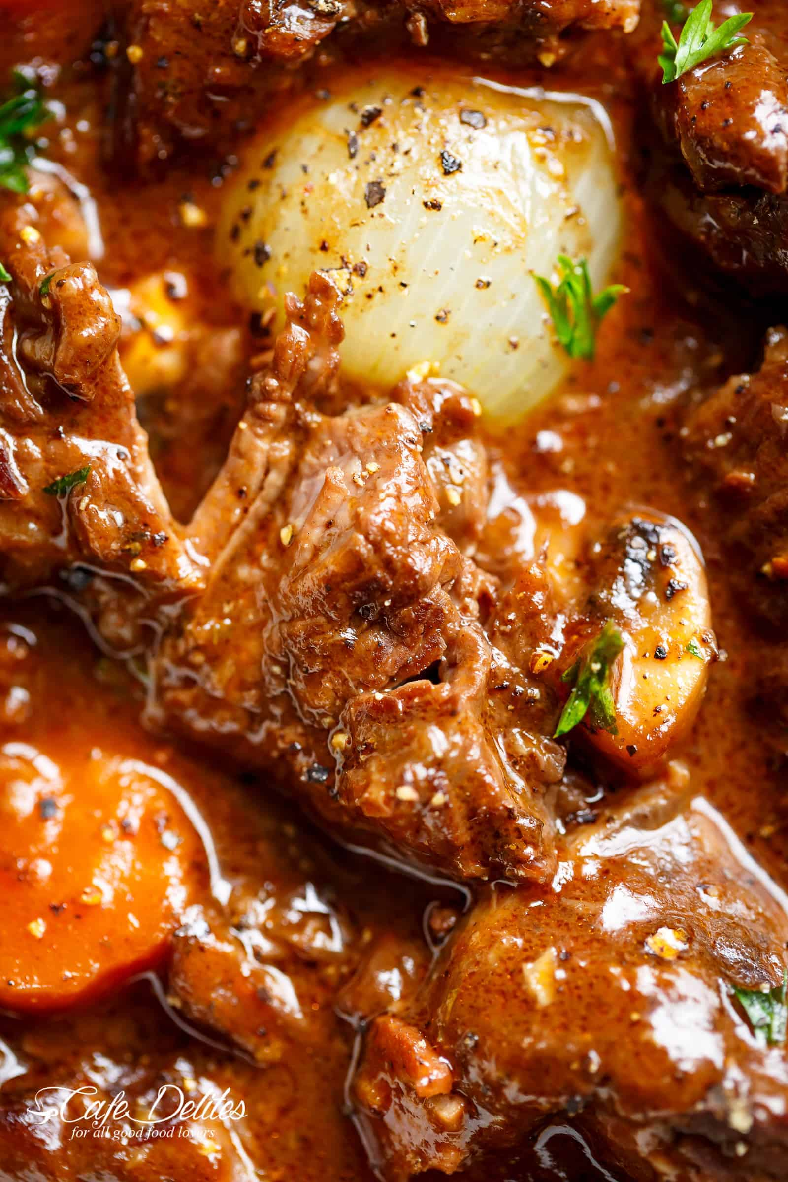 Beef Bourguignon is easy to make, every step is worth it. | cafedelites.com
