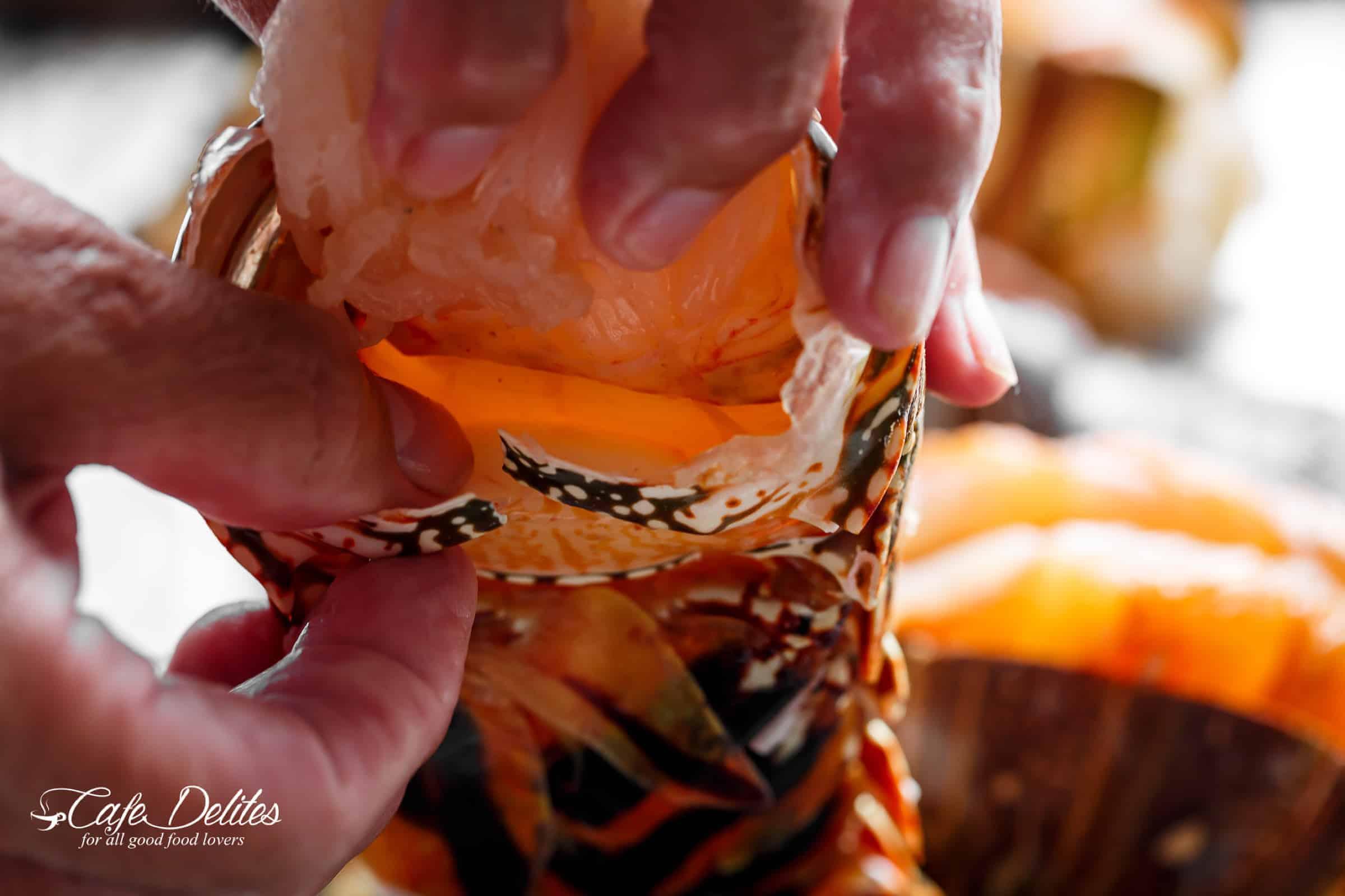 Prepare lobster tails | cafedelites.com