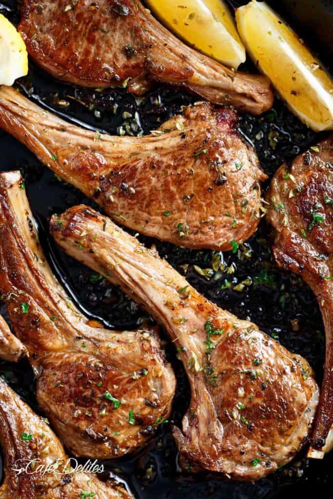 Greek Lamb Chops Cafe Delites