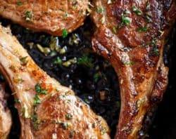 Greek Lamb Chops | cafedelites.com