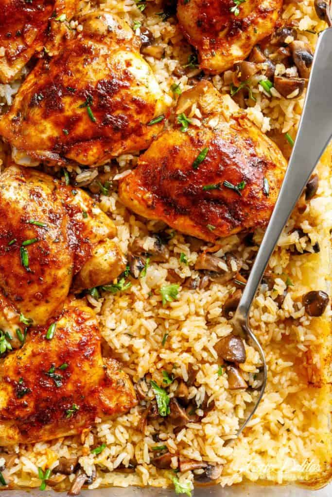 Oven Baked Chicken And Rice Cafe Delites
