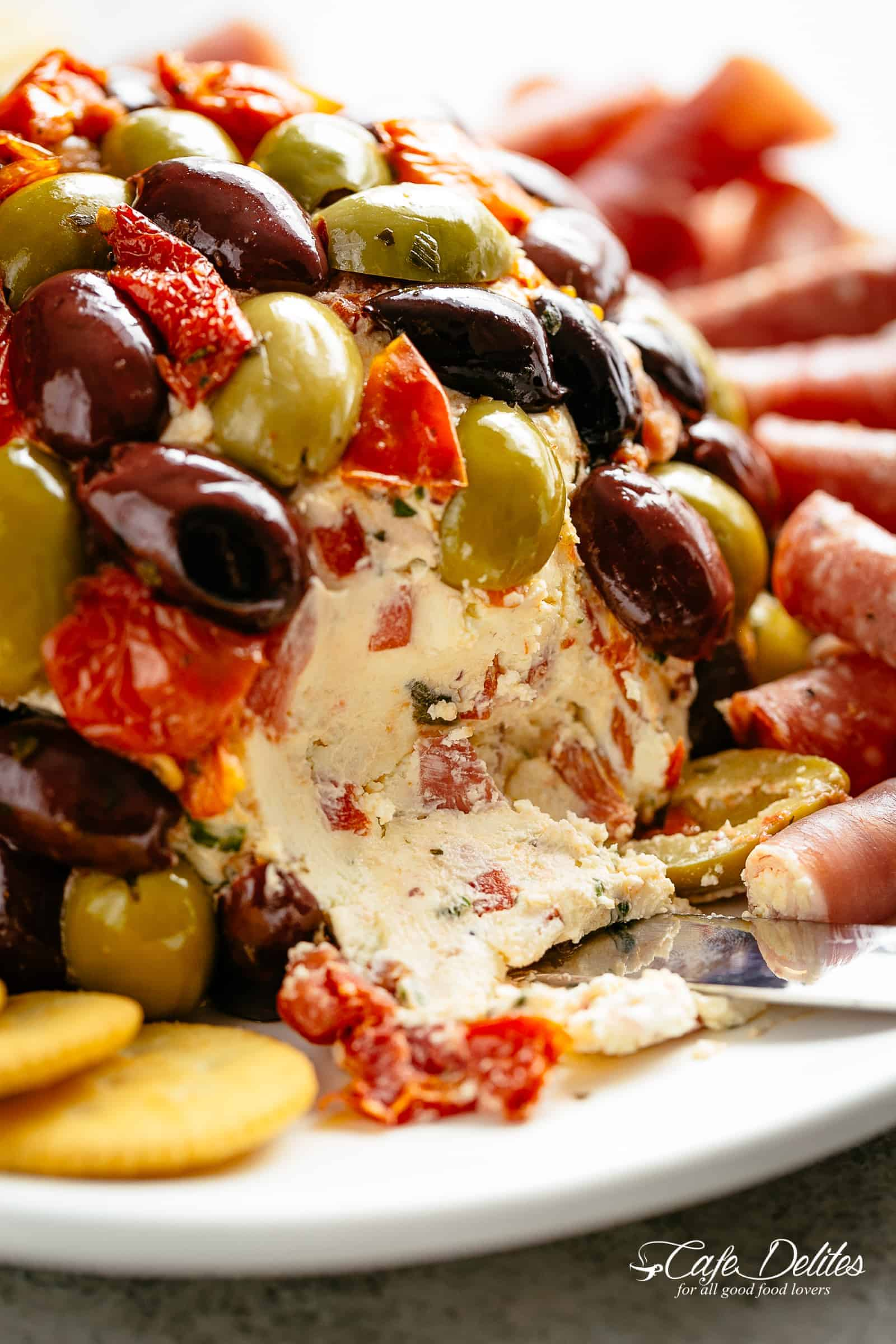 Antipasto Cheese Ball | cafedelites.com
