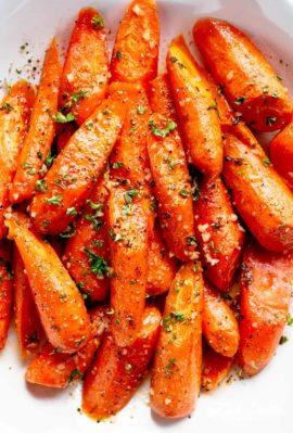 Honey Garlic Butter Carrots | cafedelites.com