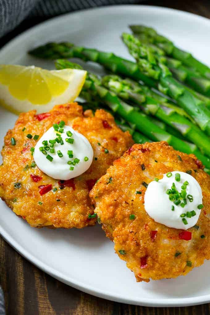 These easy shrimp cakes are loaded with veggies and herbs and pan seared to golden brown perfection. A simple and easy meal option that the whole family is sure to love!
