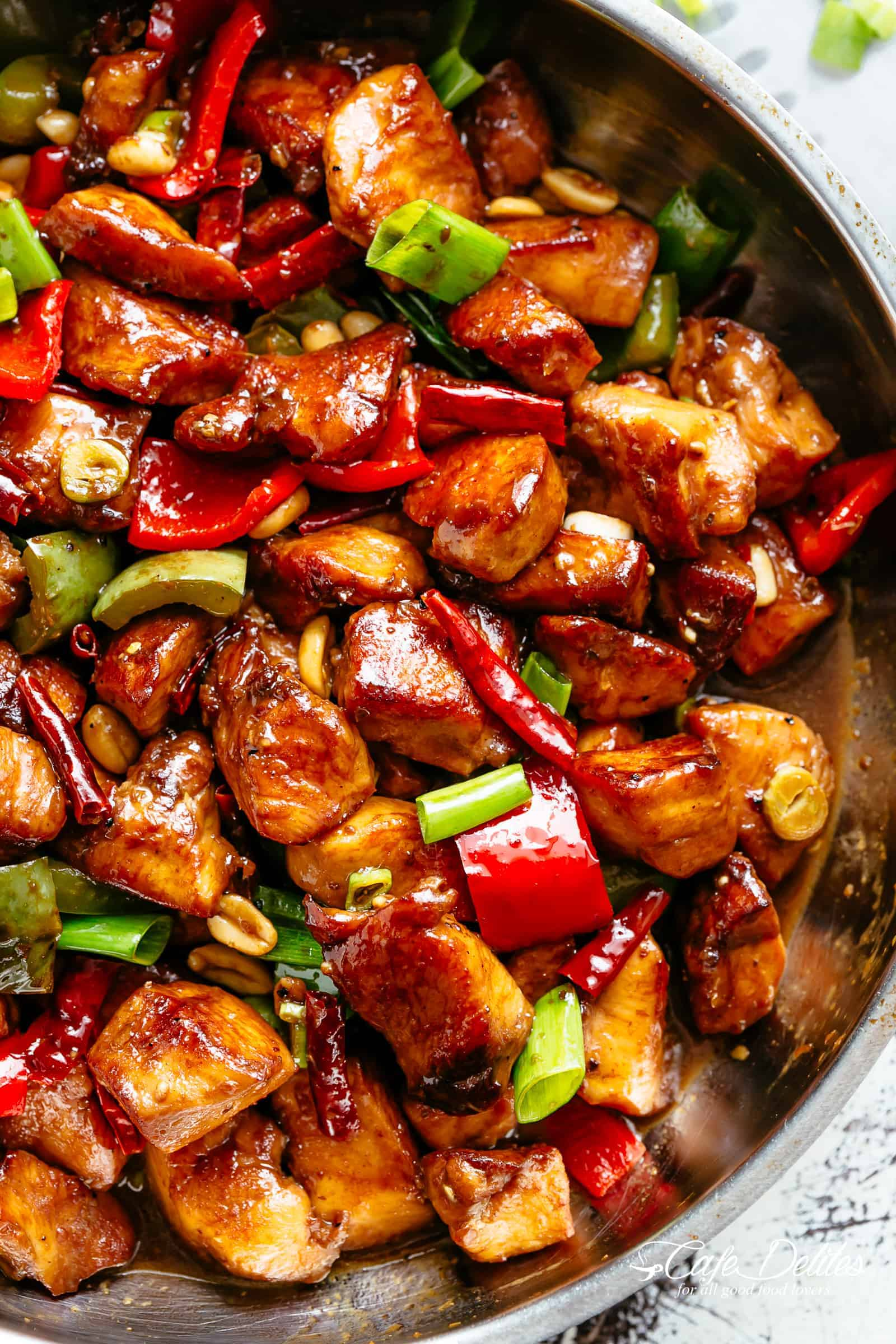 Kung Pao Chicken is a highly addictive stir-fried chicken with the perfect combination of salty, sweet and spicy flavour!