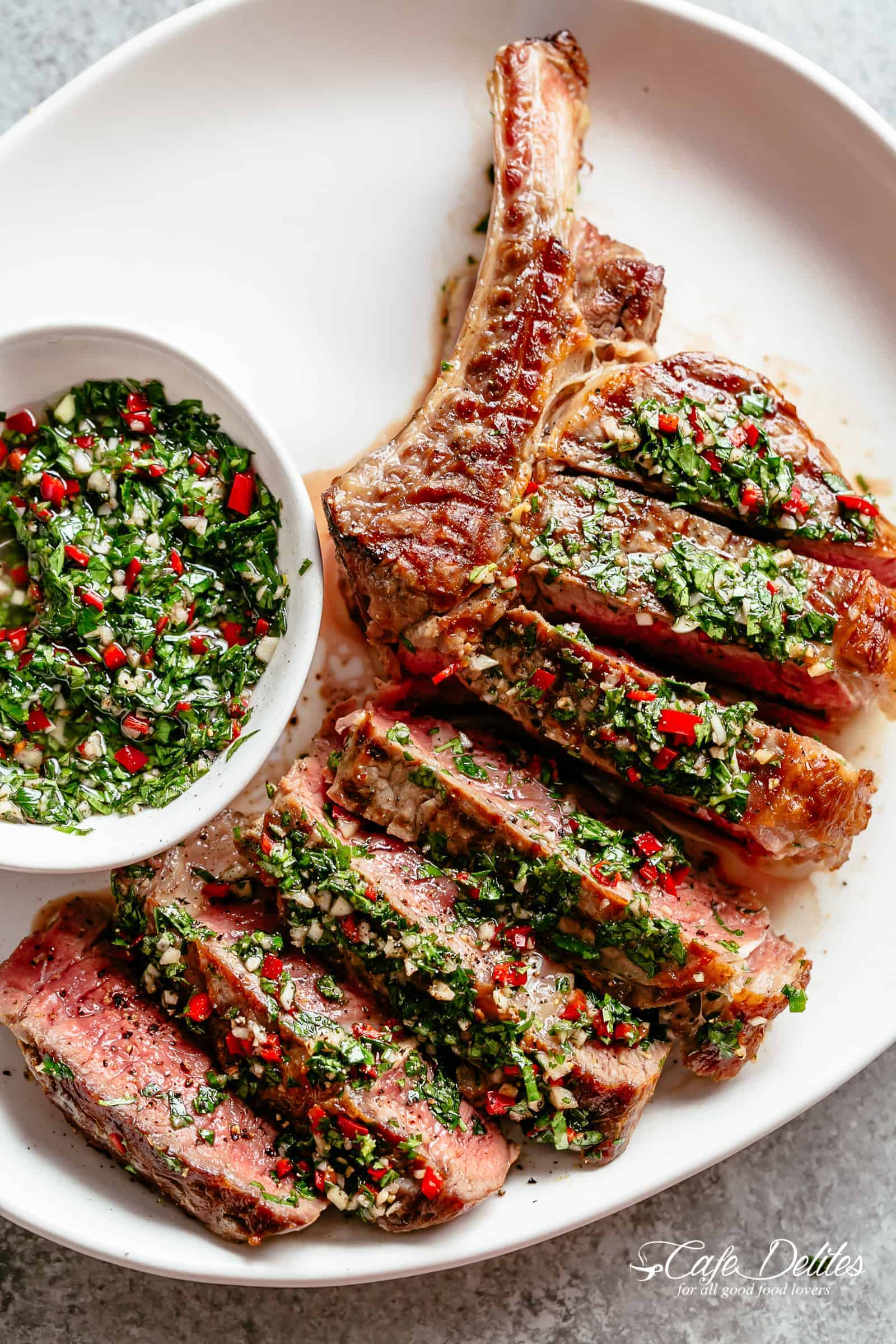 Steaks With Chimichurri Churrasco Cafe Delites