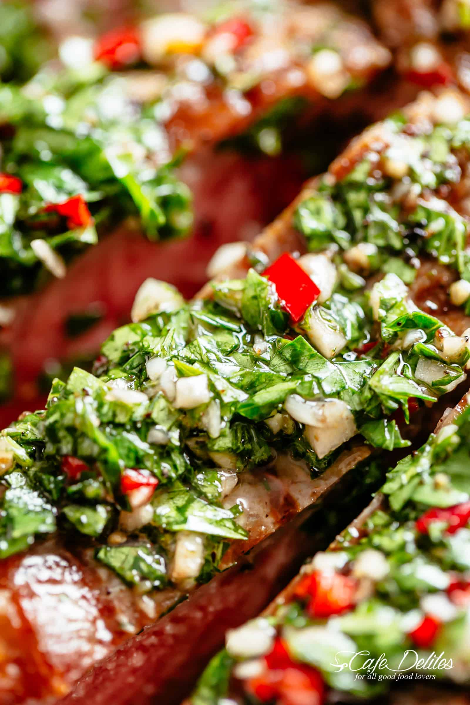 Authentic Chimichurri Steak | cafedelites.com