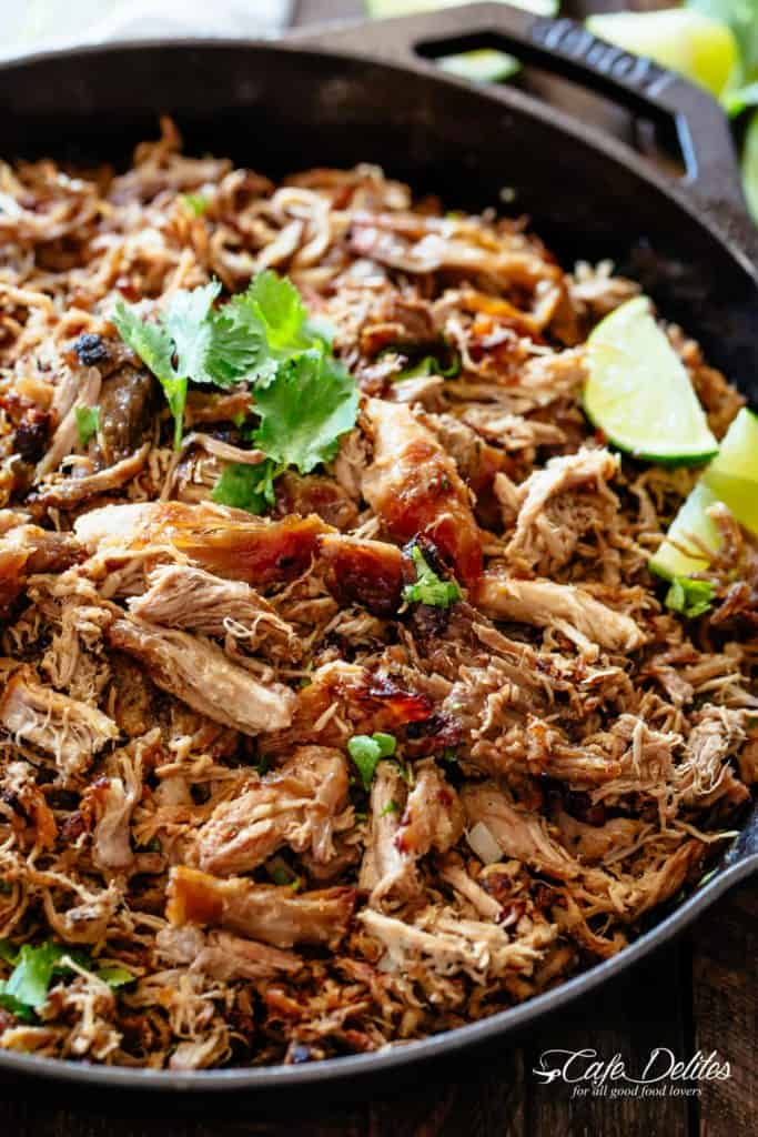 Crispy Pork Carnitas (Mexican Slow Cooked Pulled Pork) - TheDirtyGyro