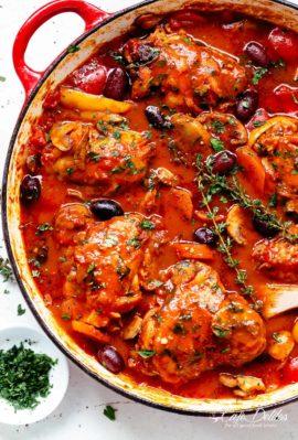 Authentic Chicken Cacciatore is an Italian classic!   cafedelites.com