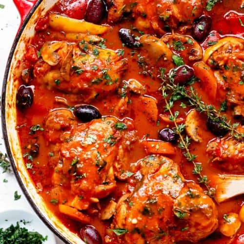 Authentic Chicken Cacciatore is an Italian classic! | cafedelites.com